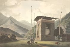Views of Bhutan 200 Years Ago via http://www.greentea.tk/2013/06/views-of-bhutan-200-years-ago.html #Bhutan #Himalayas #Himalayan