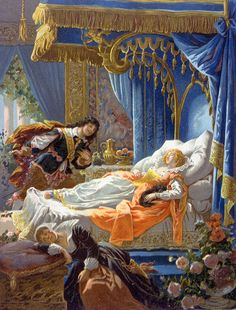 """Frederic Theodore Lix (1830-1897), """"Sleeping Beauty and Prince Charming"""""""