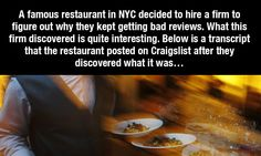 People kept complaining this restaurant sucked and had slow service. The restaurant investigated and look what they found out. BAN MOBILES from restaurants!