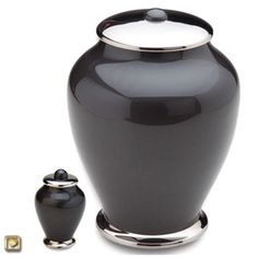 Midgnight Simplicity Brass Cremation Urn - Metal Funeral Urns from Urns Northwest