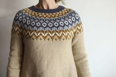 My Latest Freestyle Sweater - Riddari! — The Craft Sessions Creative Workshop, Fair Isle Knitting, Give It To Me, How To Make, Knit Crochet, Arts And Crafts, Men Sweater, My Favorite Things, Sewing
