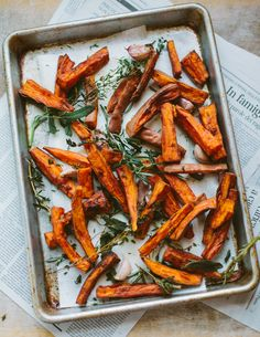 tuscan sweet potato fries from Family Style Food