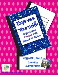 * writing and evaluating expressions involving exponents * writing, reading, and evaluating expressions in which letters stand for numbers, including those within formulas * applying properties to generate equivalent expressions Free Teaching Resources, Teaching Math, Teacher Resources, Teaching Ideas, Equivalent Expressions, Math Expressions, 6th Grade Ela, Sixth Grade, Math Classroom