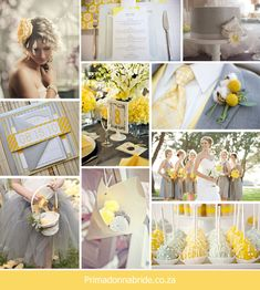 Love this grey/yellow wedding inspiration board