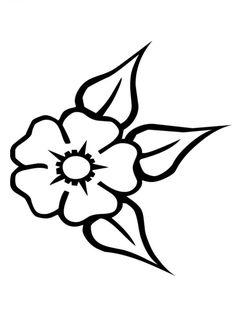 Mi colección de dibujos: Flores para pintar
