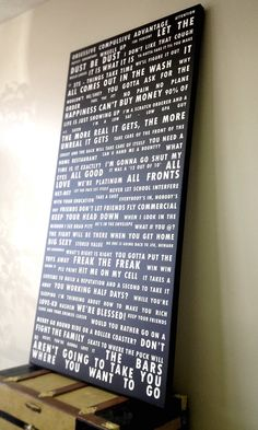 Large Subway Word Art quotes on canvas