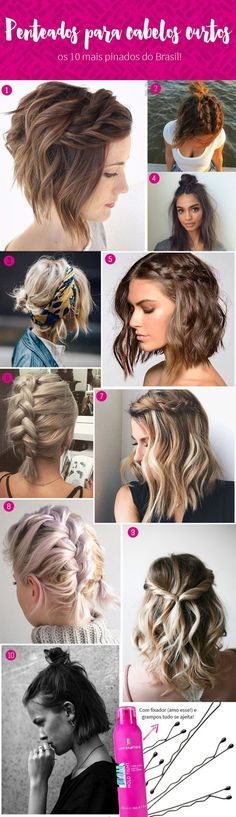Hairstyle for very short hair – Best Newest Hairstyle Trends – cabelo Boho Hairstyles, Pretty Hairstyles, Straight Hairstyles, Hairstyle Short Hair, Hairstyles For Short Hair, Hairstyle Ideas, Bad Hair, Hair Day, Short Braids