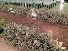 Caminho de áster  - Decoração do Casamento da Fernanda e do Gustavo - Em Goiânia | Clube Noivas