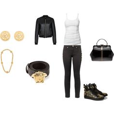"""""""biker chick"""" by beanie-babii on Polyvore"""