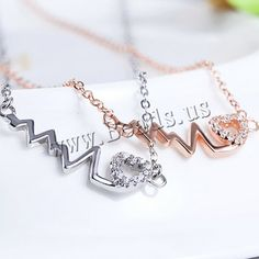 plata de ley 925 collar, con 1lnch extender cadena, chapado, cadena oval & con circonia cúbica, más colores para la opción, 6x26mm, Vendido para aproximado 16 Inch Sarta,Abalorios de joyería por mayor de China