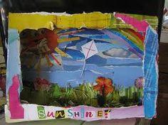 Using kid art as bg in a diorama