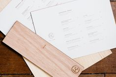 Wood menu covers with heat treated detail for specialist beef restaurant Fat Cow designed by Foreign Policy