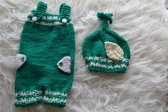 Newborn Set Overalls Newborn Short Pants by knitbabyclothes, $41.00  Green is the color of the day. Use a coupon code next time you visit: GREATBABYCLOTHES