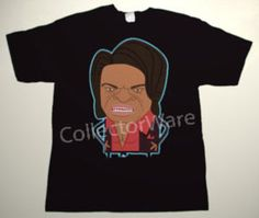 JAMES BROWN cartoon 1 CUSTOM ART UNIQUE T-SHIRT   Each T-shirt is individually hand-painted, a true and unique work of art indeed!  To order this, or design your own custom T-shirt, please contact us at info@collectorware.com, or visit  http://www.collectorware.com/tees-james_brown.htm