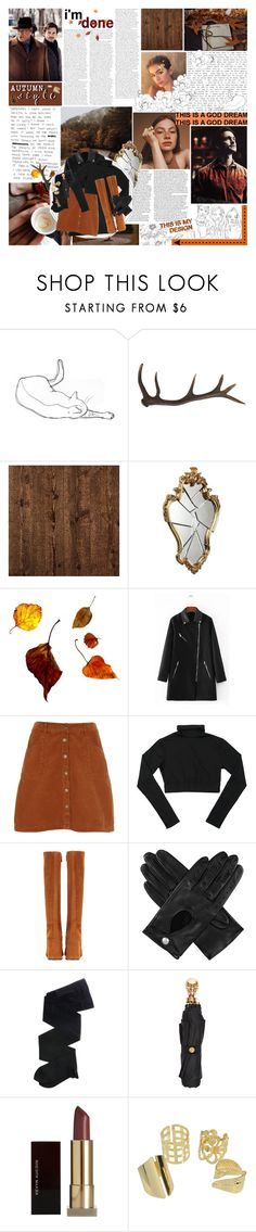"""""""❝ we don't know what nightmares lie coiled beneath Will's pillow. ❞ = wardrobe battles round 6: seasons ⚘"""" by pastelmalfoy ❤ liked on Polyvore featuring Antler, York Wallcoverings, River Island, Prada, Dents, Gerbe, Alexander McQueen, Kevyn Aucoin and wardrobebattles"""