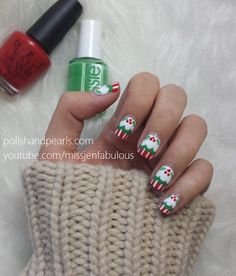 Christmas Cupcake Nails! | Polish and Pearls