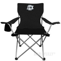 Monogrammed Tailgate Chair   Marleylilly