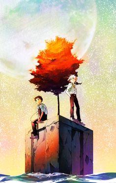 Kaworu x Shinji