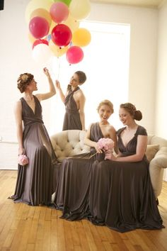 Shop affordable A-Line Sleeveless Chiffon Convertible Bridesmaid Dresses Floor Length Prom Gowns at June Bridals! Over 8000 Chic wedding, bridesmaid, prom dresses & more are on hot sale. Brown Bridesmaid Dresses, Two Birds Bridesmaid, Wedding Bridesmaids, Bridesmaid Colours, Bridesmaid Ideas, Bridesmaid Jewelry, Wedding Attire, Vestido Convertible, Infinity Dress