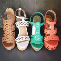 add a pop of color with Summer Wedges - A girl can never have too many wedges!