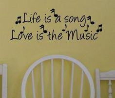 Life Is A Song Music Quote Home Wall Decor Decal