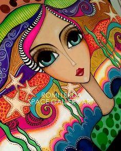 Arte Popular, Eye Art, Whimsical Art, Art Plastique, Types Of Art, Doodle Art, Female Art, Art Pictures, Folk Art