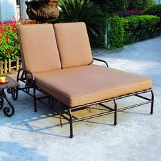 Darlee Malibu Cushioned Aluminum Patio Chaise Lounge