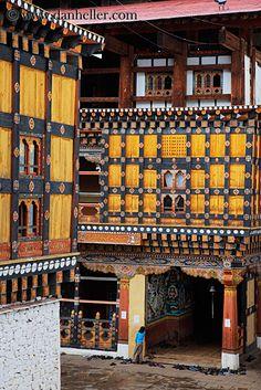 Dzong door,Paro, Bhutan