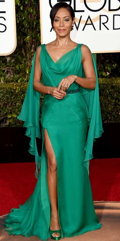 2016 Golden Globes Red Carpet Arrivals - Jada Pinkett Smith   - from InStyle.com