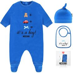 65755715e8f0 Moschino Baby  It s A Boy!  Three-Piece Gift Set