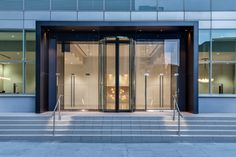 South quay plaza by morrow + lorraine architects office entrance, office lobby, main entrance Modern Entrance Door, Office Entrance, Entrance Gates, Main Entrance, Office Lobby, Front Door Design, Entrance Design, Gate Design, Facade Design