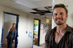 "Revolution, Season 2, Episode 209, ""Everyone Says I Love You"" behind the scenes. David Lyons / Monroe Tracy Spiridakos / Charlie #davidlyons #tracyspiridakos #charloe"