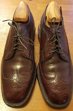 Vtg., The Johnston & Murphy Shoe, Cordovan, Leather, Oxford, WingTips (Sz 9) #JohnstonMurphy #WingTip