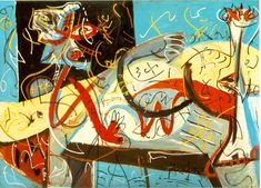 Jackson Pollock, the American iconic artist. Jackson Pollock is famous for Action Painting. He would make studies for his apparently unpremeditated works. Peggy Guggenheim, Action Painting, Drip Painting, Jackson Pollock, Pollock Paintings, Oil Paintings, Lee Krasner, Jasper Johns, Willem De Kooning