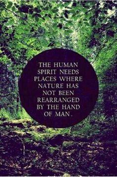 We need nature left untouched