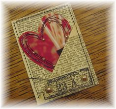 ATC - Sewn ATC by juliajae, via Flickr / another great example for adding journaling to a scrap page