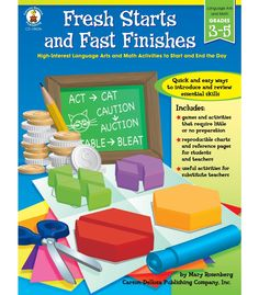 #CDWishList  Fresh Starts and Fast Finishes Resource Book - Carson Dellosa Publishing Education Supplies