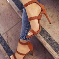 Trendy High Heels For Ladies : Waves Open Toe Ankle Wrap Zipper Stiletto High Heel Sandals Cute Shoes, Women's Shoes, Me Too Shoes, Shoe Boots, Golf Shoes, Platform Shoes, Boot Heels, Strappy Shoes, Pretty Shoes