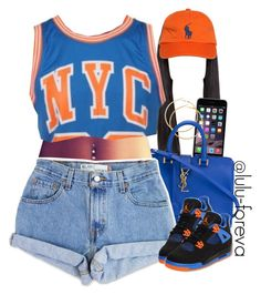 """Untitled #1578"" by lulu-foreva ❤ liked on Polyvore featuring H&M, Yves Saint Laurent, Ralph Lauren, Levi's and Retrò"
