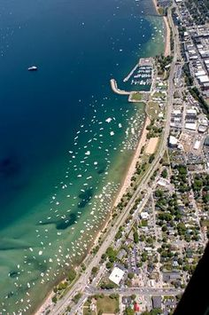Aerial View of Traverse City, MI