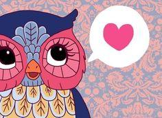 heart owl by Caroline Maerten