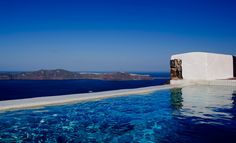 We stayed at this amazing hotel in Santorini Greece.  It has only 4 private suites with private pools and jacuzzis overlooking the Caldera.