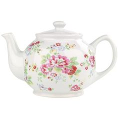 Our china teapots are just the thing for an afternoon dose of earl grey. This design features our pretty Spray Flowers print, part of a beautiful range which also includes a cake stand and milk jug so you'll have the best dressed afternoon tea table in town. Holds up to 6 cups of tea.