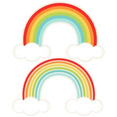 Rainbows SVG cutting file for scrapbooking cute cut files free svgs cricut silhouette svg cut files clip art Rainbow Baby, Over The Rainbow, Diy Party Props, Affinity Photo, Cute Cuts, Unicorn Party, Silhouette Design, Mini Albums, Clip Art