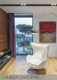 Amber Gardens Luxury Green Homes Reveal Bioclimatic Design Moving Company Quotes, Egg Chair, Amber, How To Plan, Living Room, Architecture, Luxury, Green Homes, Interior