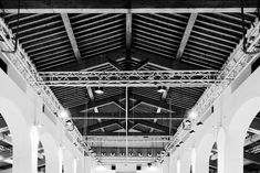 Medieval roof - Medici Fortress of Florence Medieval roof of the Arsenale, now used as an exhibition hall.