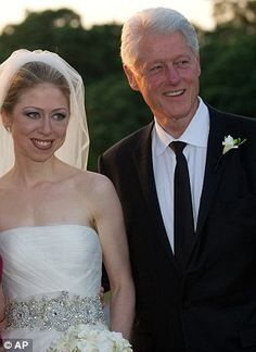 Chelsea Clinton reveals that after years of distancing her career from parents Bill and Hillary - she is now 'proud' to be following in their famous footsteps | Daily Mail Online Celebrity Wedding Photos, Celebrity Weddings, Arkansas, Chelsea Clinton Wedding, Daughters, Sons, Bill Hillary, Madam President, Clinton Foundation