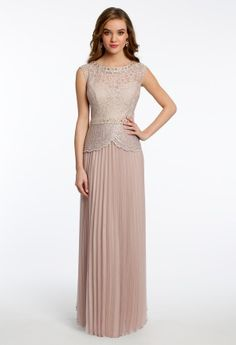 The look of true sophistication and elegance is highly apparent in this stunning dress by JR Nites. With its chic vintage look, you'll appreciate every detail of this timeless style. Features include a lace illusion neckline and bodice with scalloped edging and fully pleated chiffon skirt. Ideal as a Mother of the Bride Dress, Wedding Guest Dress and perfect for all elegant affairs.@carmpicone