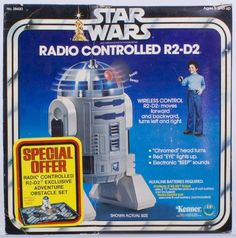 Star Wars Radio Controlled R2-D2 was released in 1978 by Kenner. It was available in stores. This collectible was made in Hong Kong.