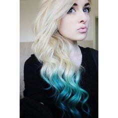 Platinum Blonde Ombre Hair Tumblr fashionplaceface.com - Polyvore
